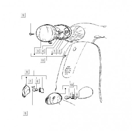 09: Richtingaanwijzer Vespa ET rechts-voor