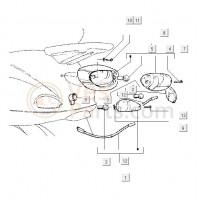 05: Lamp Achterlicht/Remlicht Vespa ET2/4 LX/S/LXV/Primavera/Sprint