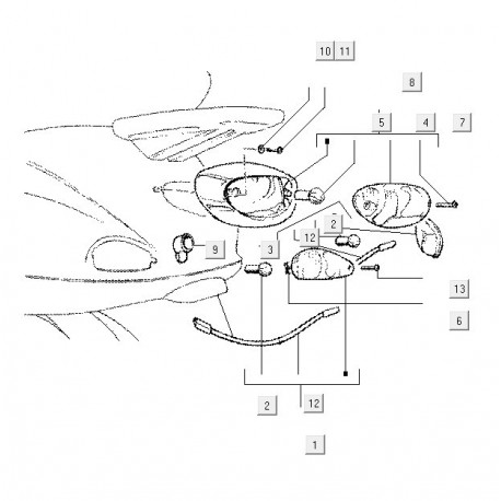 07: Lamp Richtingaanwijzer 12V 10W Vespa ET