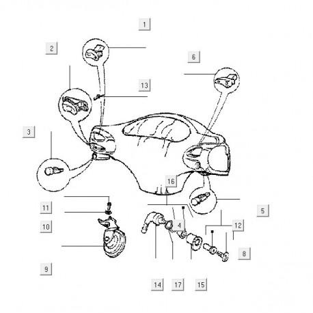 16: Stuurslotnokclip Vespa ET/LX/LXV/S