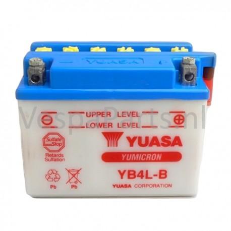 Yuasa YB4L-B Accu 12V 4Ah Vespa 2T universeel