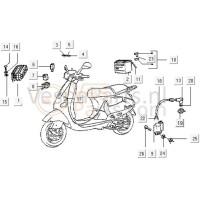 14: Schroef M6X15 Vespa ET/LX/LXV/S