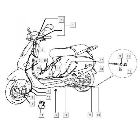 12a: Doorvoerrubber Vespa ET/LX/LXV/S