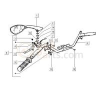 11: Stuurkap/luchtfilter/beplating Schroef D3 x 30
