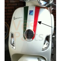 Sticker Vespa scooter tricolore voorscherm