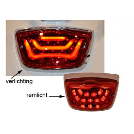 Achterlicht Vespa LX/LXV/S LED rood