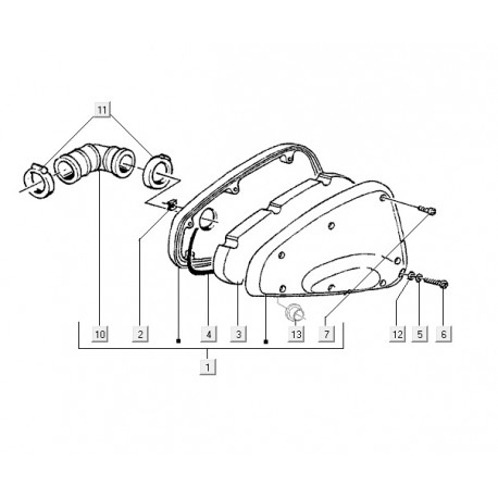 05: Luchtfilterdekselpakking Vespa ET2 M04