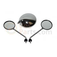 Spiegelset rond Vespa LX/S met schroefdraad origineel model