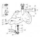13: Slangklem Benzinetank Vespa ET2