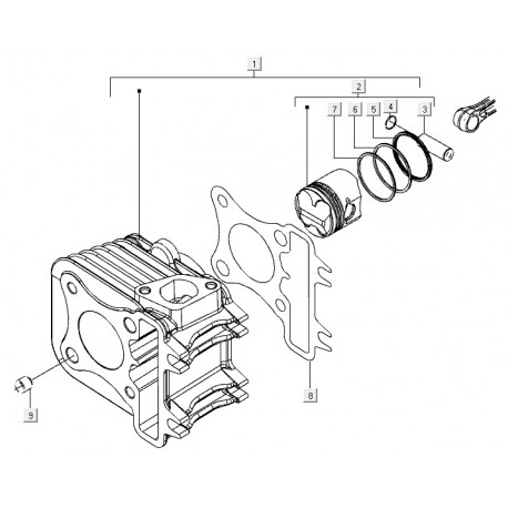 06: Zuigerveer C25/4t-C26-C28 Std. Vespa ET4/LX/LXV/S