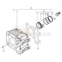 07: Zuigerveer C25/4t-C26-C28 Std. Vespa ET4/LX/LXV/S