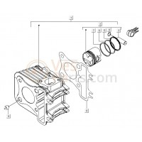 08: Cylindervoetpakking C25/4t-C26-C28 0,5mm Vespa ET4/LX/S