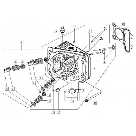 10: Koppakking 0.25 mm Vespa LX/S