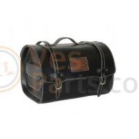 Top koffer Achter/voordrager Bagage Tas Custom zwart (leder)