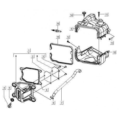 10: Onderkant kap cilinderkop Vespa S