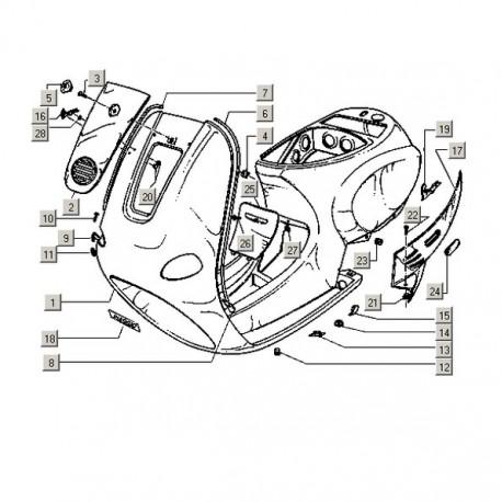 Compleet chassis Vespa ET ongespoten