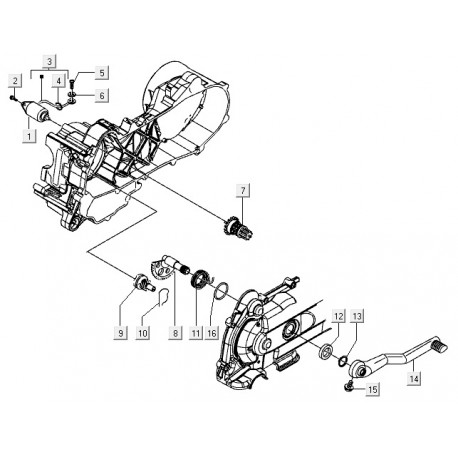 03: Startmotor Kabelboom Vespa S