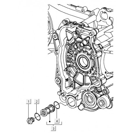 03: Oliefilterzeef M01-M04-C25/4t-C28 Vespa ET4/LX/LXV/S