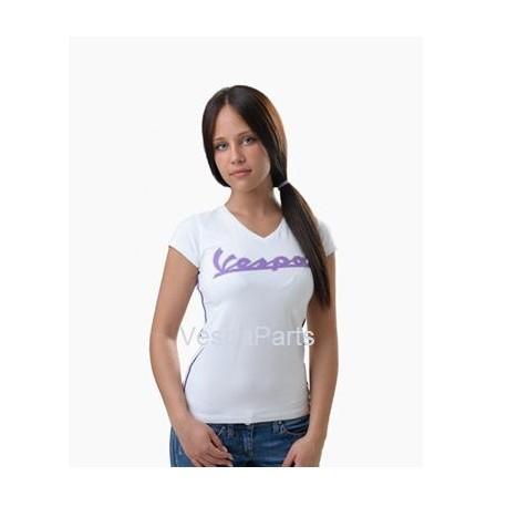 """Scollo V"" Vespa T-shirt dames (Diverse kleuren)"