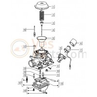 01: Vacuumdeksel Vespa LX/S