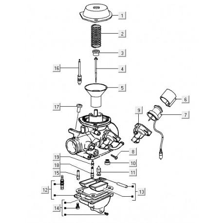 14: Kit vlotterkamer Vespa LX/S