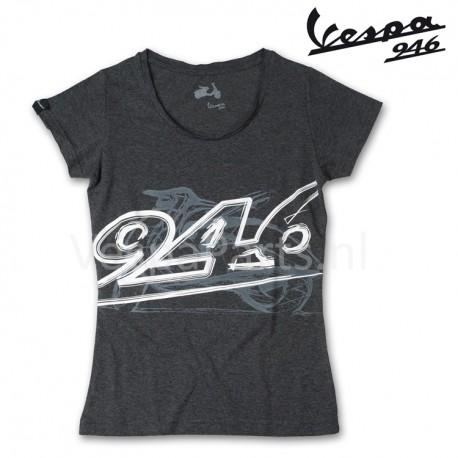 Vespa T-Shirt v946 dames melange