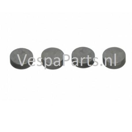 Klepstelplaatjes SET (4 oplopende afmetingen) Vespa S/LX/LXS/ET
