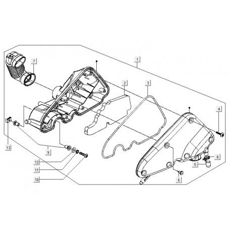 03: Luchtfilterpakking Vespa LX/LXV/S