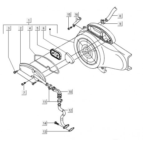 10: Luchtfilterslang (bocht) Vespa S