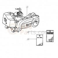01: Motor carter compleet Vespa ET