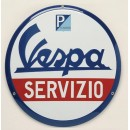 Gevelplaat Vespa Servizio
