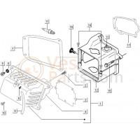 12: Koelkap C25/4t-C28 Onder Vespa LX/LXV/S