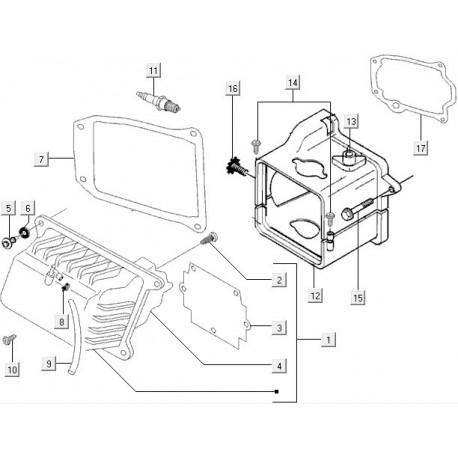 17: Koelkappakking 50 Cc 4t Vespa ET4/LX/LXV/S
