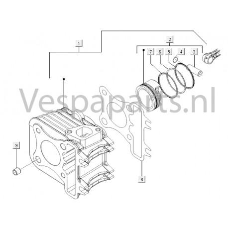 05: Zuigerveer C25/4t-C26-C28 Std. Vespa ET4/LX/LXV/S