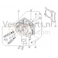 01: Cylinderkop Compleet Vespa LX/LXV/S