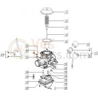 11: Hevel Acceleratiepomp C25/4t-C28 Vespa ET4/LX/LXV/S