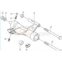 07: Motor ophanging bout Vespa ET2/ET4/LX/LXV/S/Primavera/Sprint