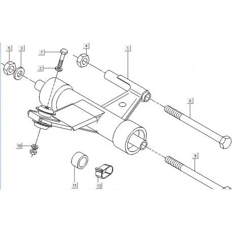 07: Bout M10 X 80 Sw-17 M04 Vespa ET2/ET4/LX/LXV/S