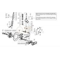 36:Schokdemper ankerplaat /Schokdemper steun Vespa LX/LXV/S