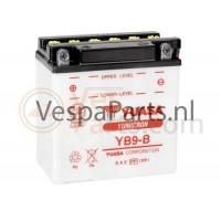 Yuasa YB9-B droge Accu 12V 9Ah Vespa ET4/LX/LXV/S