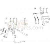 08: Stootrubber Middenstandaard Vespa ET4/LX/LXV/S