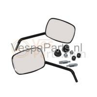 Spiegelset vierkant Vespa LX/S mat zwart