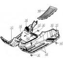 01: Treeplank Vespa LX/LXV/S spuitklaar (blank)