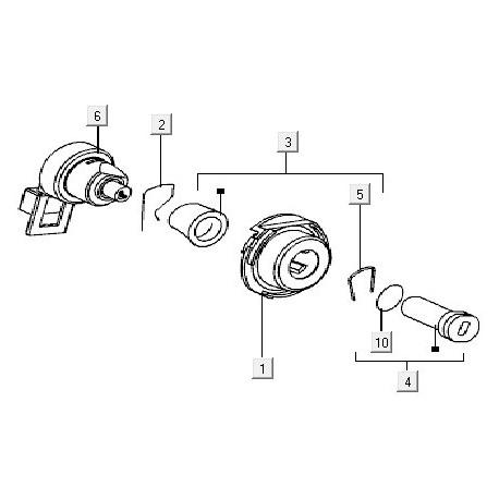 10: Tankdopring 42x26x3 Vespa ET2/ET4/LX/LXV/S
