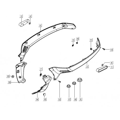15: Frameplug Vespa LX/LXV/S