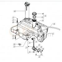 07: Benzinekraan C25-M21-M26x1137 Vespa ET2/ET4/LX/LXV/S