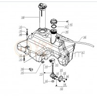 01: Benzinetankzender Vespa LX/LXV/S