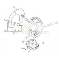 06: Houder windscherm Vespa LXV