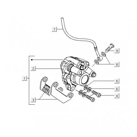 02: Schijf/Remleidingbeugel Vespa LX/LXV/S