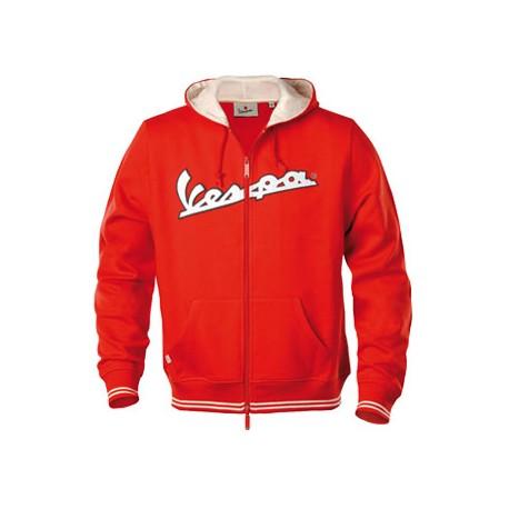 Vest capuchon Vespa man rood